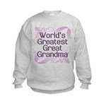 World's Greatest Great Grandma Kids Sweatshirt