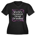 World's Greatest Great Grandma Women's Plus Size V