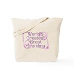 World's Greatest Great Grandma Tote Bag