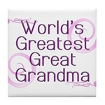 World's Greatest Great Grandma Tile Coaster