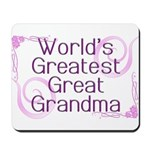 World's Greatest Great Grandma Mousepad
