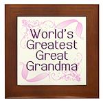 World's Greatest Great Grandma Framed Tile