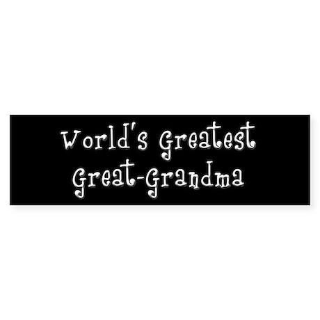 World's Greatest Great Grandma Sticker (Bumper)
