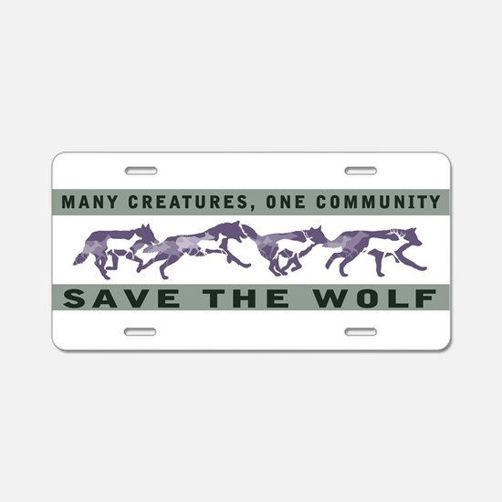 Funny Wolves Aluminum License Plate