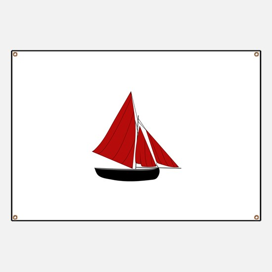 Red Sail Boat Banner