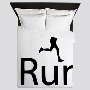 iRun Man Black Queen Duvet