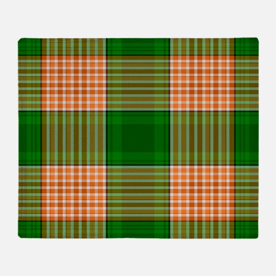 Track and Field Plaid Throw Blanket