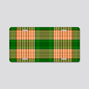 Track and Field Plaid Aluminum License Plate