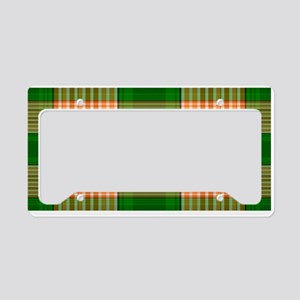 Track and Field Plaid License Plate Holder