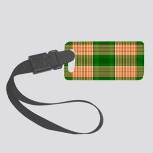 Track and Field Plaid Small Luggage Tag
