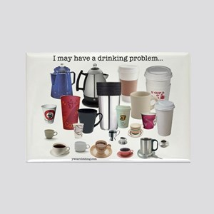 Coffee Drinking Problem Rectangle Magnet