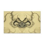 Stylized Angel Wings Rectangle Car Magnet