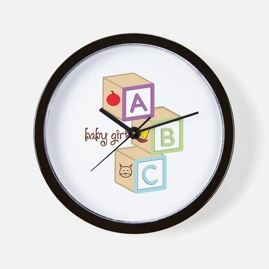 Baby Girl Wall Clock