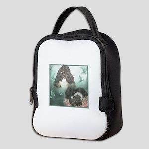 Tri-Cocker Spaniel Collage Neoprene Lunch Bag