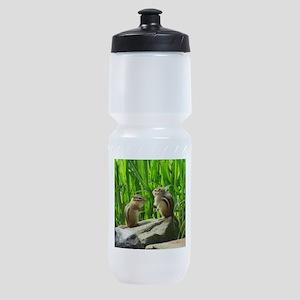 Two Chipmunks Sports Bottle