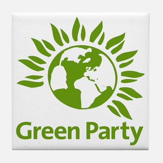 The Green Party Tile Coaster