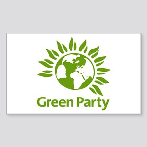 The Green Party Sticker (rectangle)