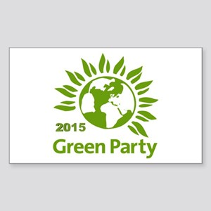 Green Party 2015 Sticker (rectangle 10 Pk)