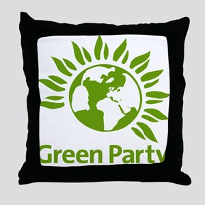 The Green Party Throw Pillow