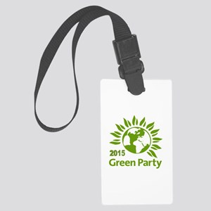 Green Party 2015 Large Luggage Tag
