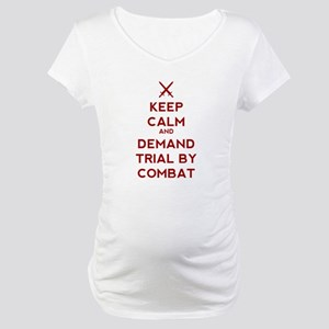 Keep Calm and Demand Trial by Co Maternity T-Shirt