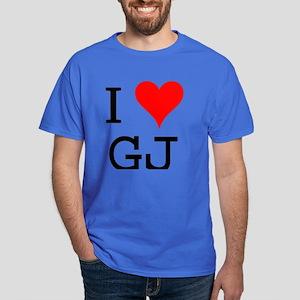 I Love GJ Dark T-Shirt