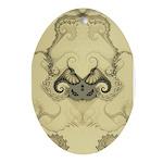 Stylized Angel Wings Ornament (Oval)
