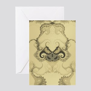 Stylized Angel Wings Greeting Cards