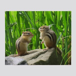 Two Chipmunks Throw Blanket