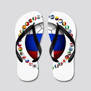 Russia soccer Flip Flops
