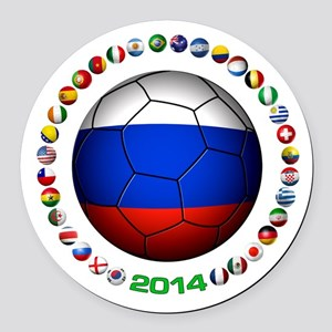 Russia soccer Round Car Magnet