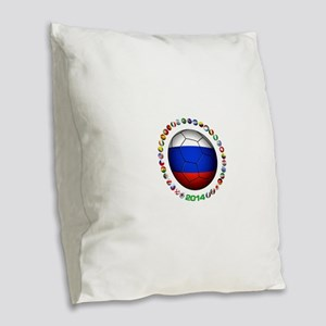 Russia soccer Burlap Throw Pillow