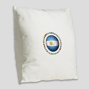 Argentina soccer Burlap Throw Pillow