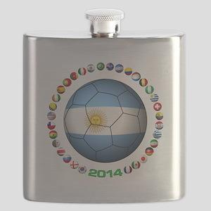 Argentina soccer Flask
