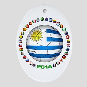 Uruguay soccer futbol Ornament (Oval)