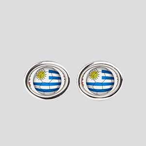 Uruguay soccer futbol Oval Cufflinks
