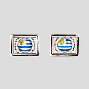 Uruguay soccer futbol Rectangular Cufflinks