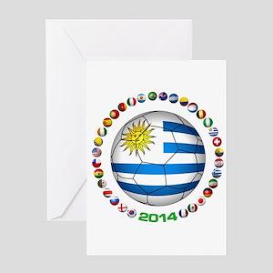 Uruguay soccer futbol Greeting Cards
