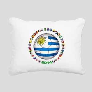 Uruguay soccer futbol Rectangular Canvas Pillow