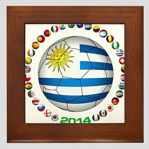 Uruguay soccer futbol Framed Tile