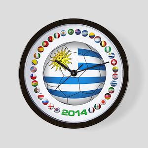 Uruguay soccer futbol Wall Clock