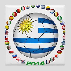Uruguay soccer futbol Tile Coaster