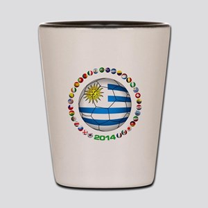 Uruguay soccer futbol Shot Glass