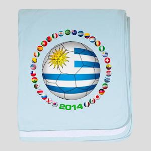 Uruguay soccer futbol baby blanket