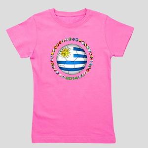 Uruguay soccer futbol Girl's Tee