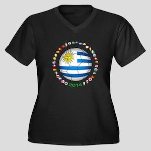 Uruguay soccer futbol Plus Size T-Shirt