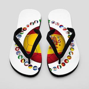 Spain soccer Flip Flops