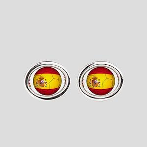Spain soccer Oval Cufflinks
