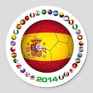 Spain soccer Round Car Magnet