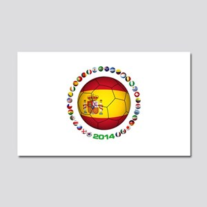 Spain soccer Car Magnet 20 x 12